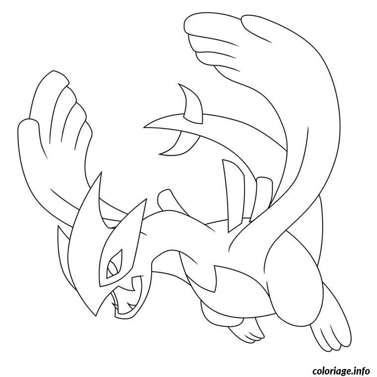 Dessin pokemon lugia Coloriage Gratuit à Imprimer