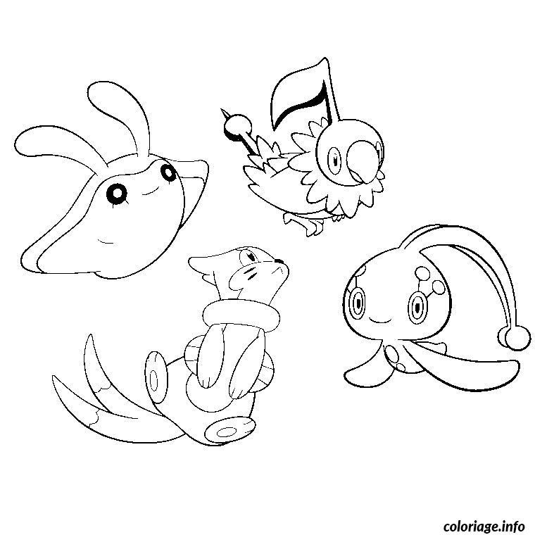 Coloriage pokemon diamant et perle dessin - Pokemon a colorier et a imprimer gratuit ...