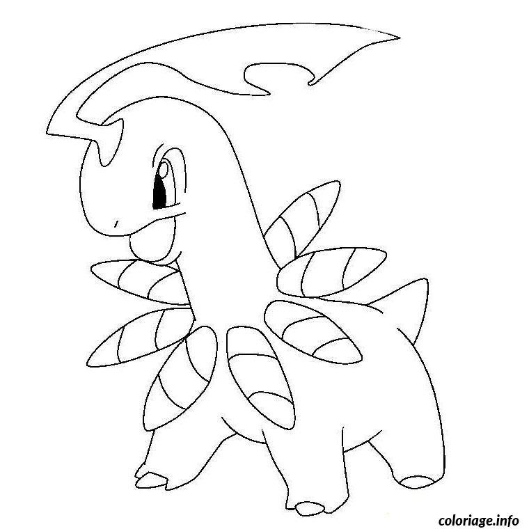 Dessin pokemon meganium Coloriage Gratuit à Imprimer
