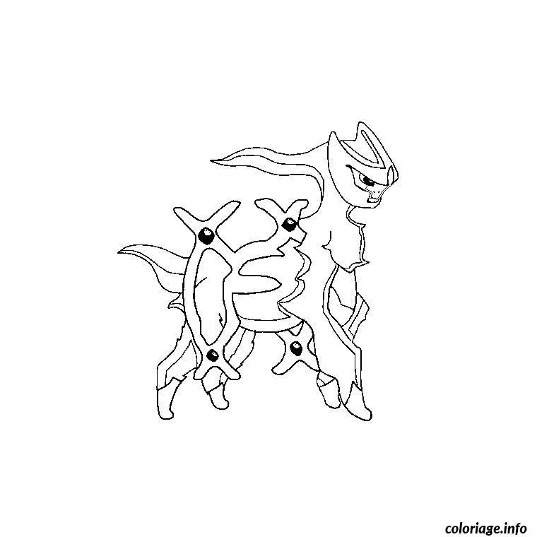 Dessin pokemon arceus Coloriage Gratuit à Imprimer