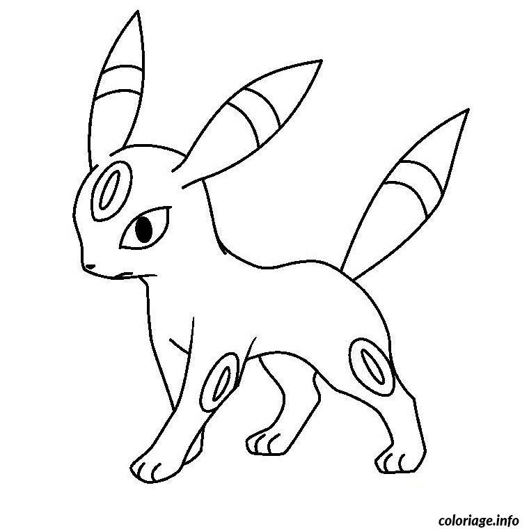 Dessin pokemon noctali Coloriage Gratuit à Imprimer
