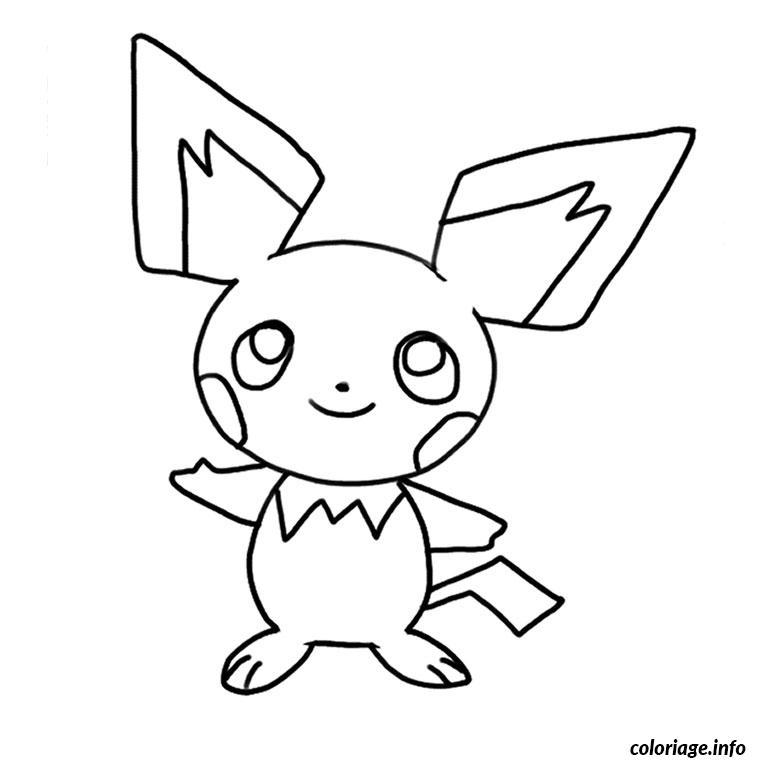 Dessin pokemon pichu Coloriage Gratuit à Imprimer