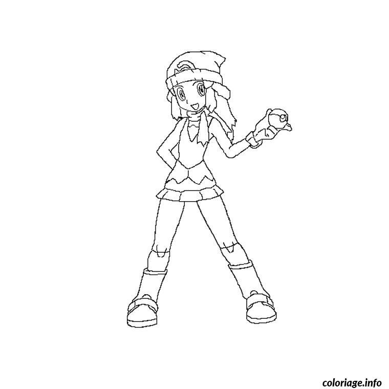 Dessin aurore pokemon Coloriage Gratuit à Imprimer