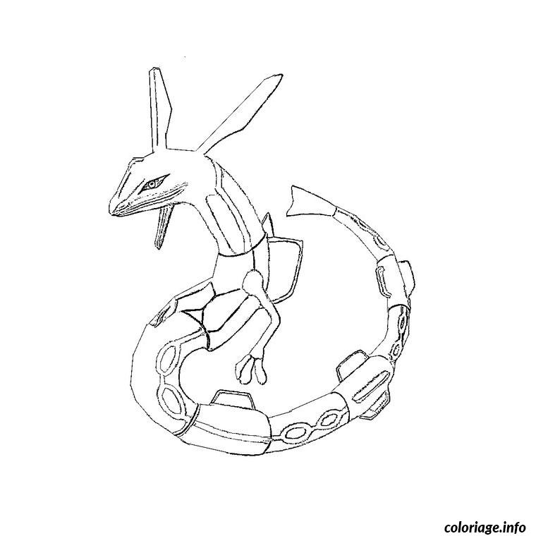 Coloriage pokemon rayquaza dessin - Coloriage pokemon legendaire a imprimer ...