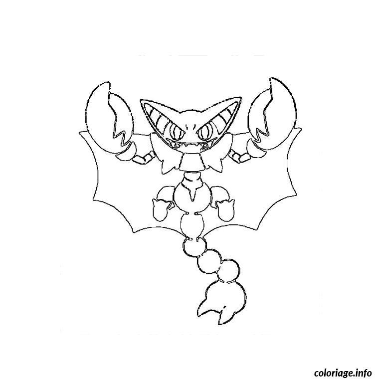 Dessin pokemon scorvol Coloriage Gratuit à Imprimer