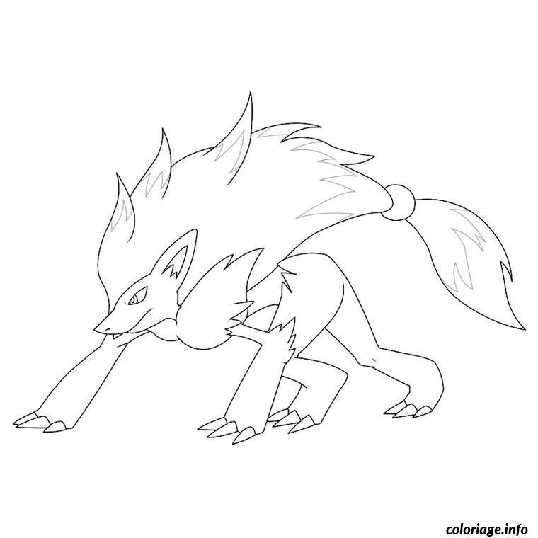 Dessin pokemon zoroark Coloriage Gratuit à Imprimer
