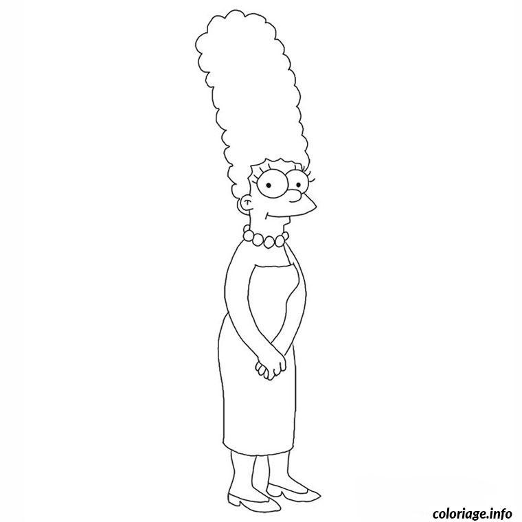 Coloriage Les Simpson Marge Jecolorie Com