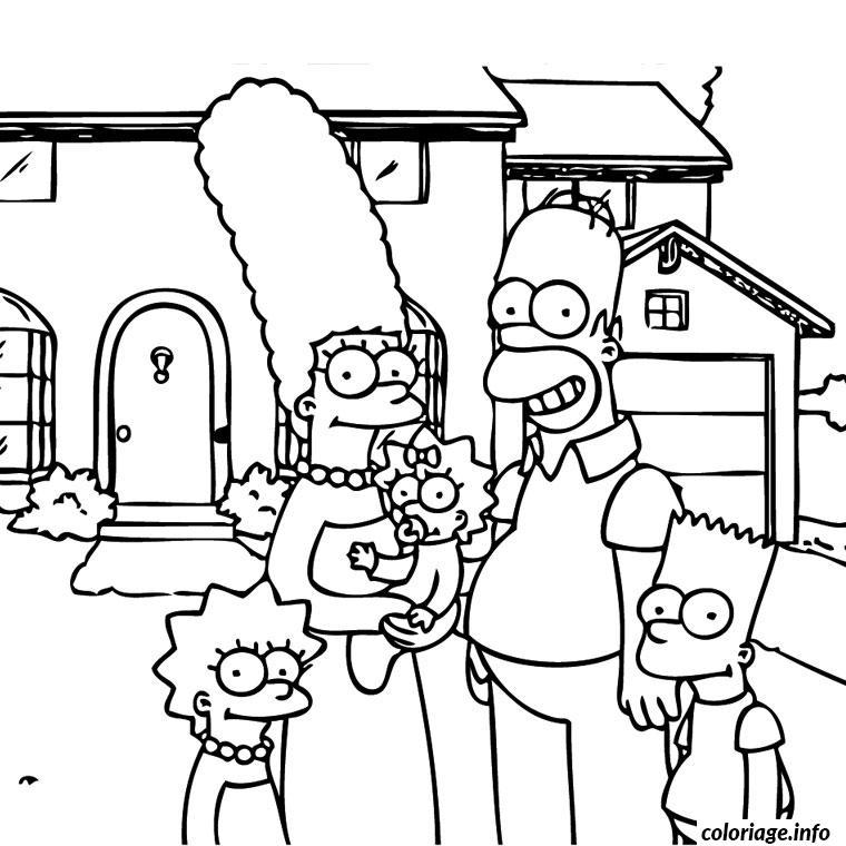 Coloriage Simpson En Famille Jecolorie Com