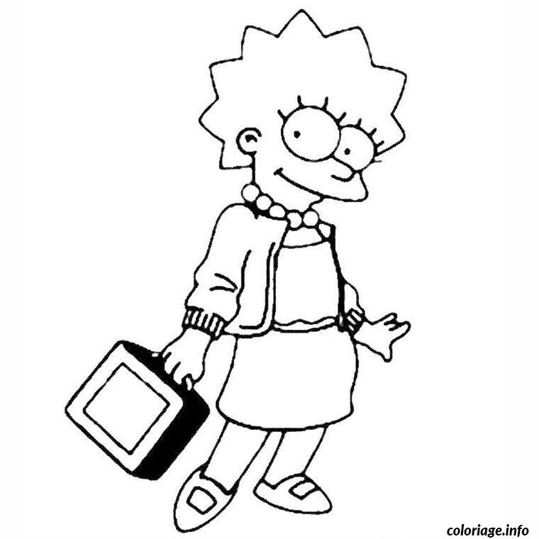 Coloriage Les Simpson Lisa Dessin Simpson A Imprimer