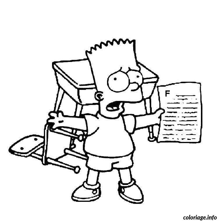 Coloriage Bart Simpson