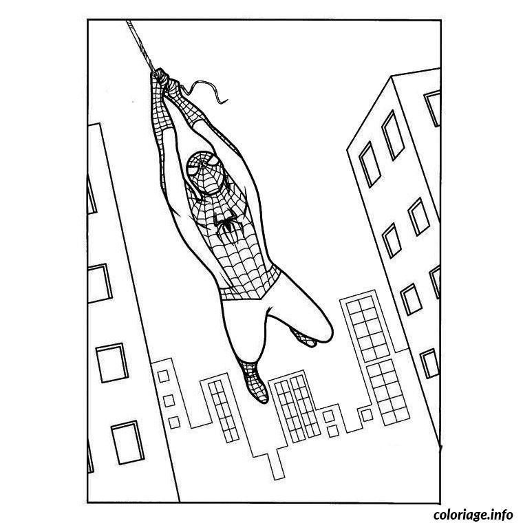 dessin araignee spiderman coloriage gratuit imprimer