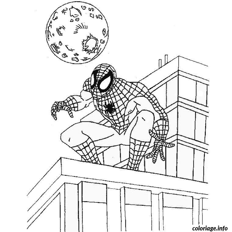 Coloriage de noel spiderman - JeColorie.com
