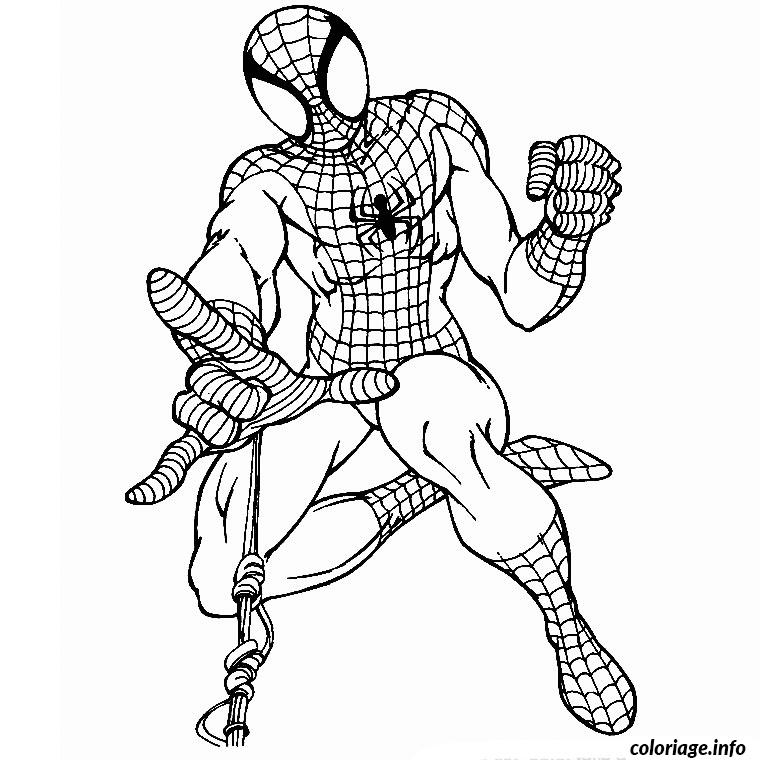 Coloriage spider man marvel comics dessin - Spider man en dessin ...