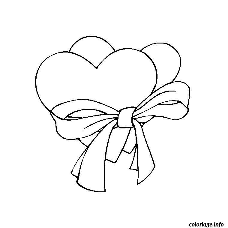 Dessin coeur st valentin Coloriage Gratuit à Imprimer