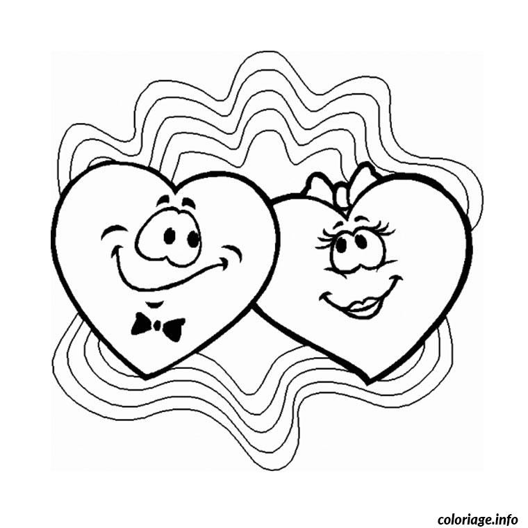 coeur saint valentin coloriage dessin 909