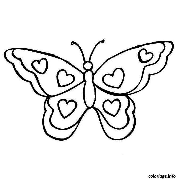 coloriage papillon coeur dessin imprimer - Papillon Dessin