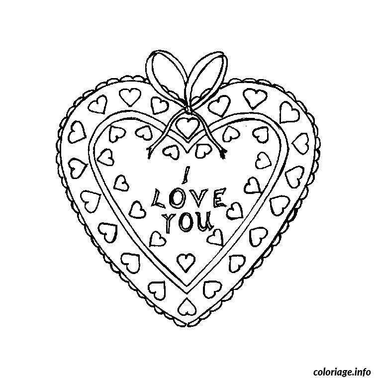 Coloriage coeur dessin - Coeur coloriage ...
