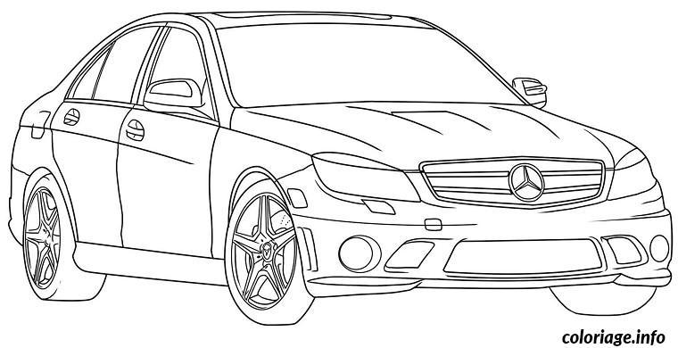 voiture de luxe coloriage 924