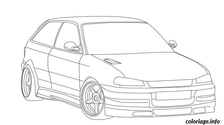 coloriage voiture opel dessin