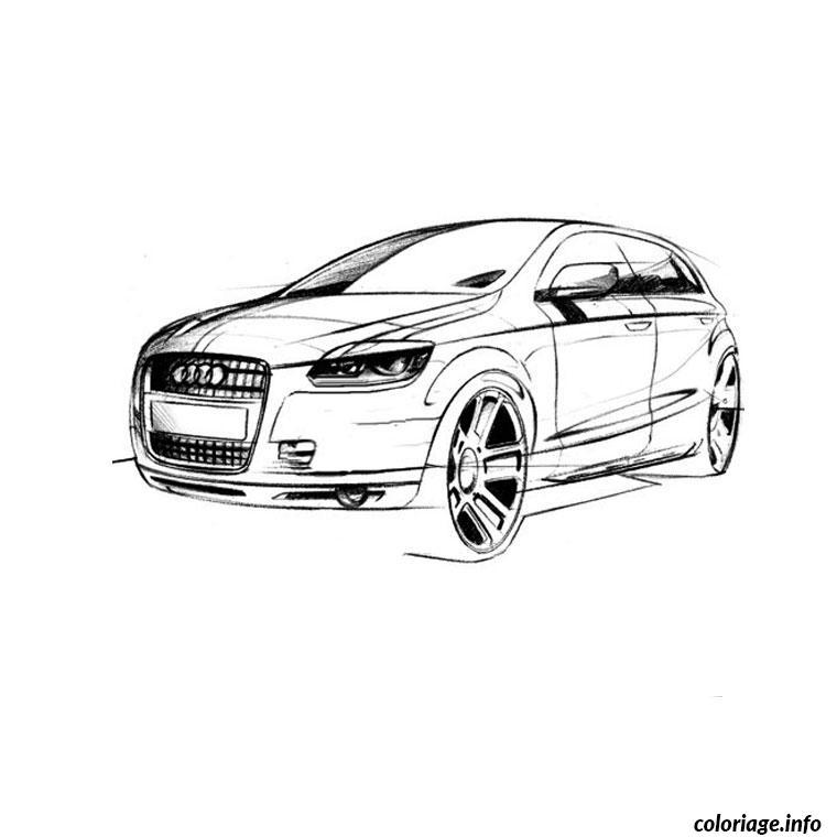 Coloriage audi q5 dessin - Dessin voiture stylisee ...