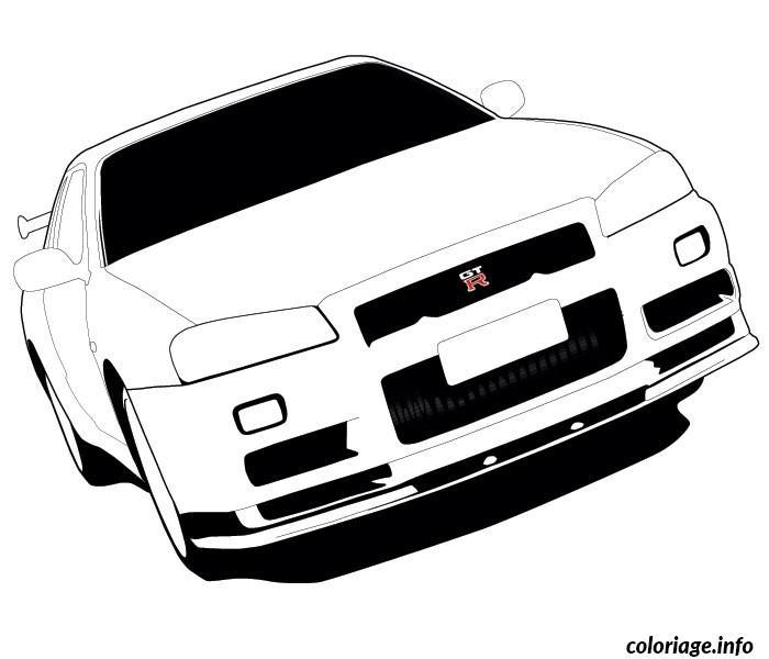Dessin dessin voiture dwg Coloriage Gratuit à Imprimer