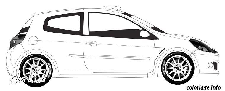 Coloriage dessin voiture tuning imprimer - JeColorie.com