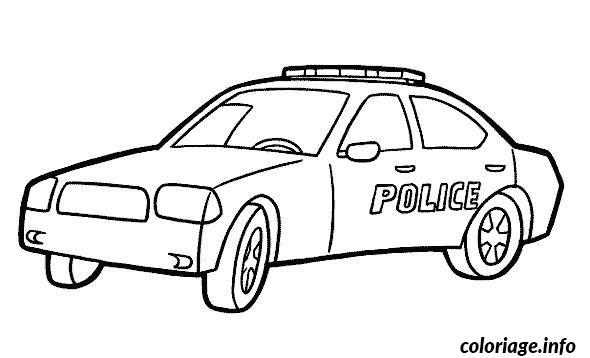 Coloriage Voiture Police Jecolorie Com