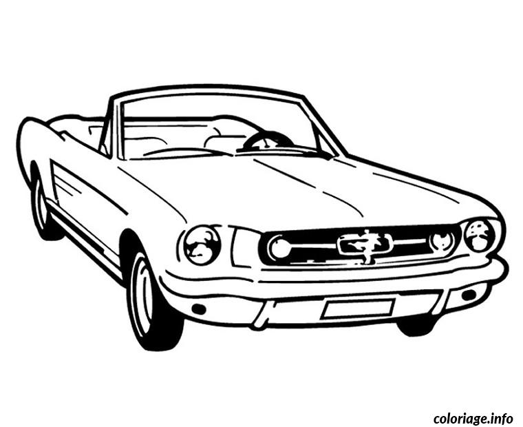 coloriage voiture mustang. Black Bedroom Furniture Sets. Home Design Ideas