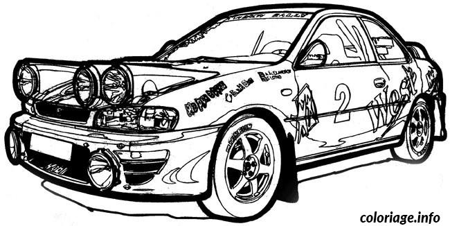 Coloriage Voiture Subaru Dessin
