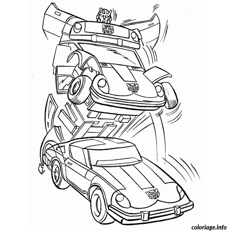 Coloriage transformers voiture dessin - Coloriage transformers ...