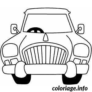 Dessin dessin voiture caricature Coloriage Gratuit à Imprimer