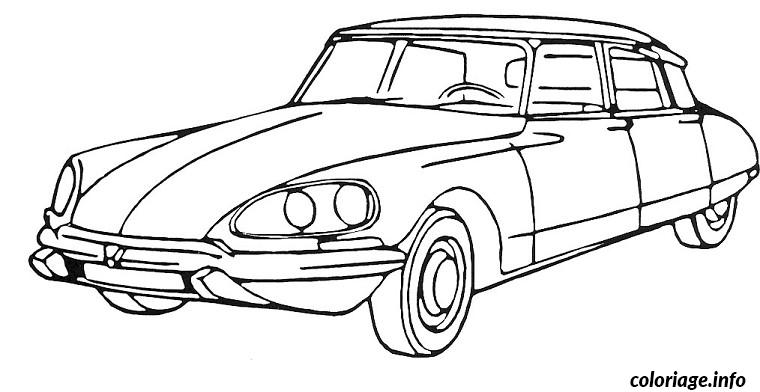 coloriage dessin voiture citroen dessin