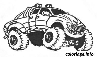 Coloriage Image Voiture 4x4 dessin