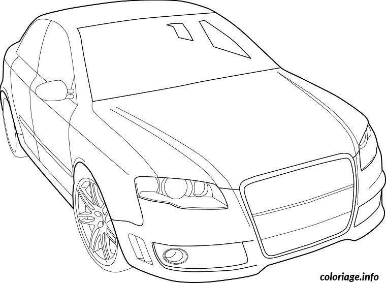 Coloriage voiture audi dessin - Dessin a imprimer de voiture ...