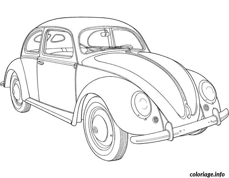 coloriage voiture coccinelle dessin