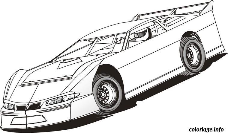 Coloriage voiture de course dessin - Dessins a colorier gratuit a imprimer ...