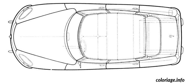 Coloriage dessin voiture vue de dessus dessin - Voiture vue de haut ...