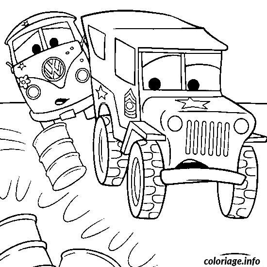 dessin voiture cars coloriage 986