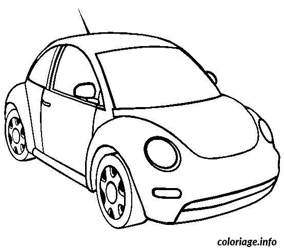 Coloriage dessin voiture coccinelle dessin - Dessin vieille voiture ...