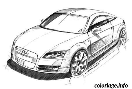 Coloriage image voiture audi - Dessin de voiture de luxe ...