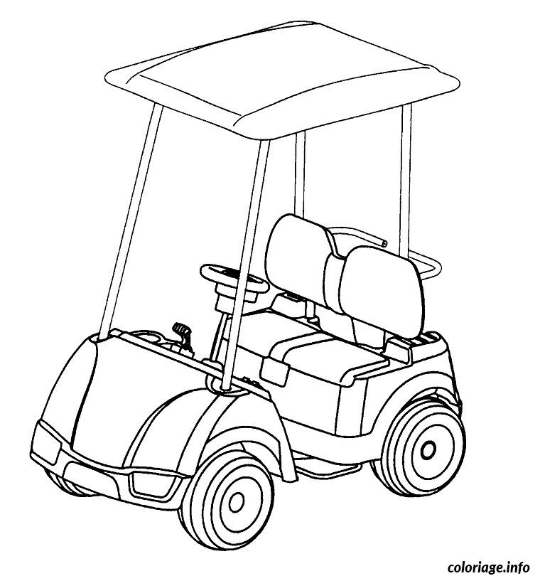 coloriage voiture golf dessin. Black Bedroom Furniture Sets. Home Design Ideas