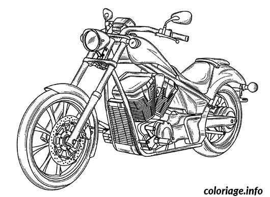Coloriage Adulte Voiture.Coloriage Voiture Moto Dessin