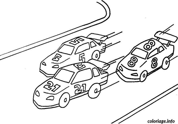 Coloriage voitures course dessin - Dessin a imprimer de voiture ...