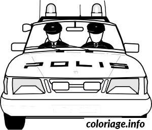 Coloriage dessin voiture police - Coloriage a imprimer police ...