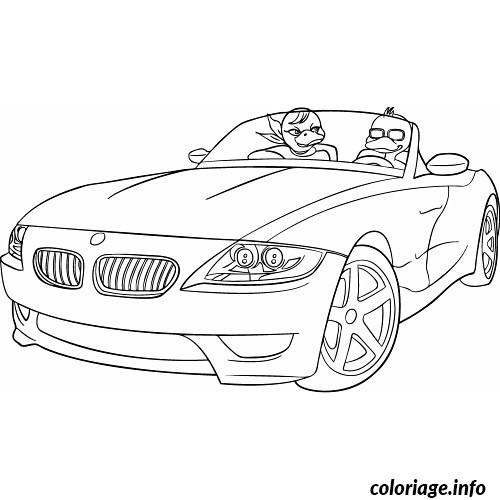Coloriage voiture cabriolet dessin for Plans de dessins de porche