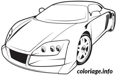 coloriage voiture sport dessin gratuit