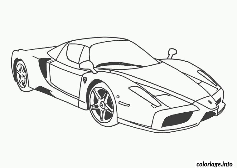 Coloriage Voiture Ferrari Dessin