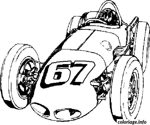 dessin voiture de course coloriage dessin 1025