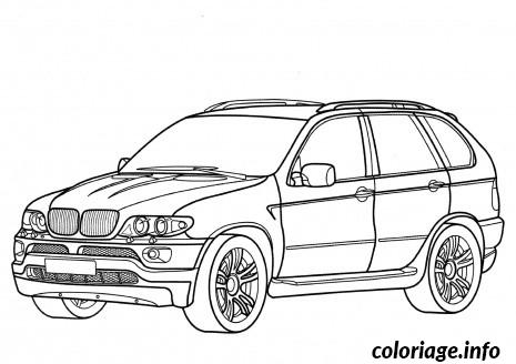 Dessin voiture bmw Coloriage Gratuit à Imprimer