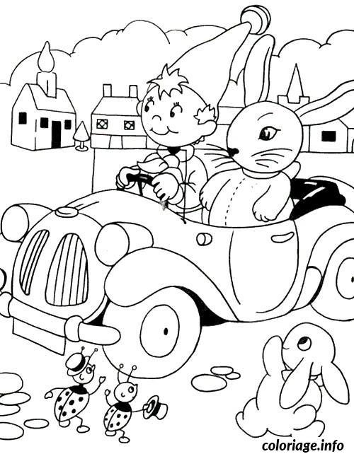 Dessin dessin voiture oui oui Coloriage Gratuit à Imprimer